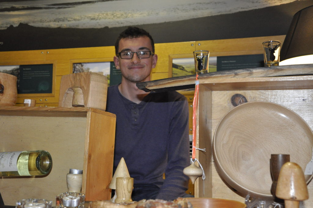 Ben Selfridge from Lochgilphead with his handmade, unique and bespoke designs made entirely from wood.
