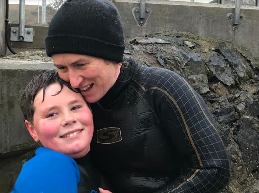Hugs for Eachaan from his mum Sheila Macgregor-Louw.