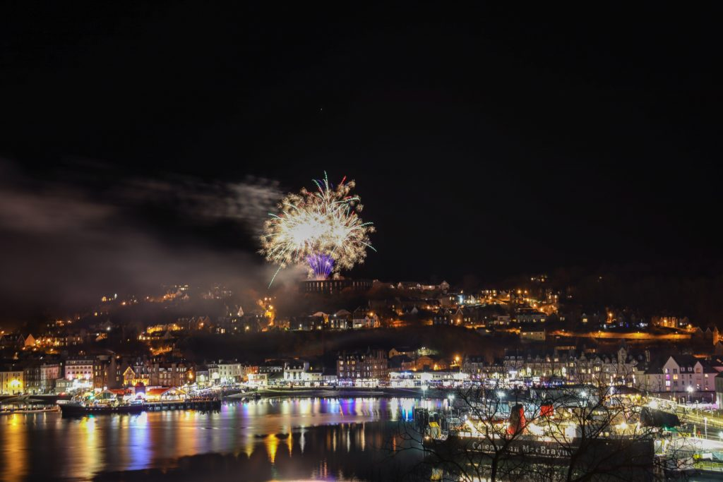Fireworks lit up the bay on Saturday night as the St Andrew's Day celebrations got underway.
