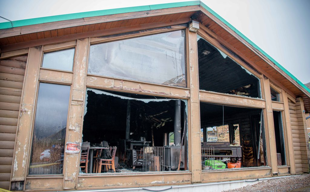 Windows were smashed by the heat inside the building. Photograph: Abrightside Photography