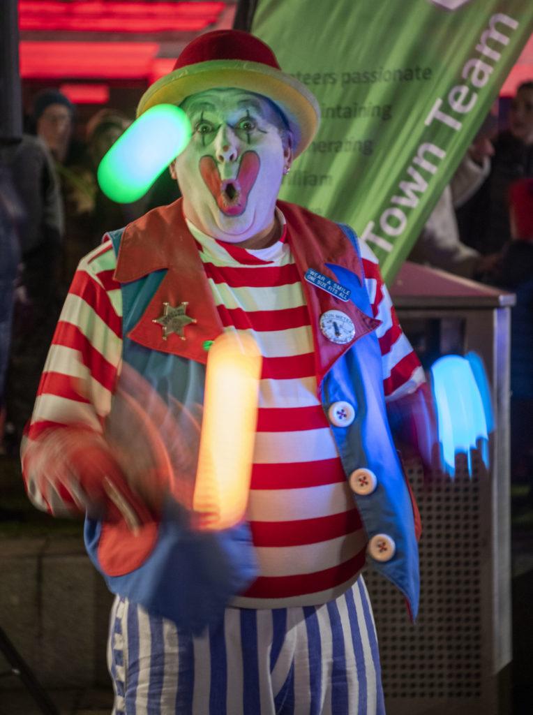 STREET FESTIVAL Bubbles the clown. Photograph: Iain Ferguson, alba.photos