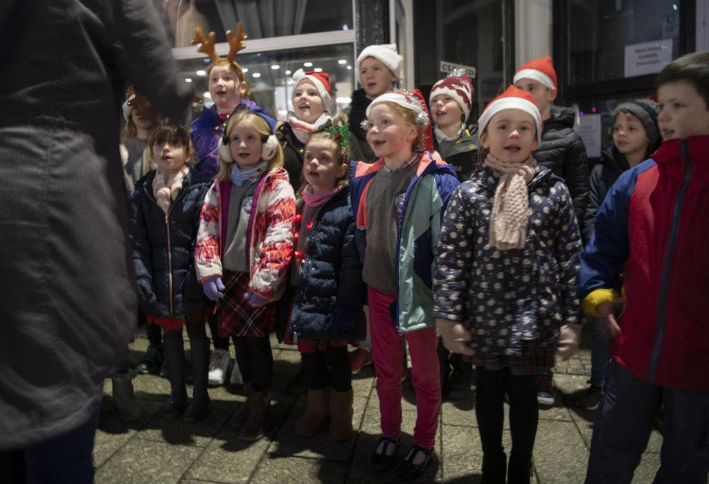 STREET FESTIVAL  Bub Sgoil Gaidhlig choir. Photograph: Iain Ferguson, alba.photos