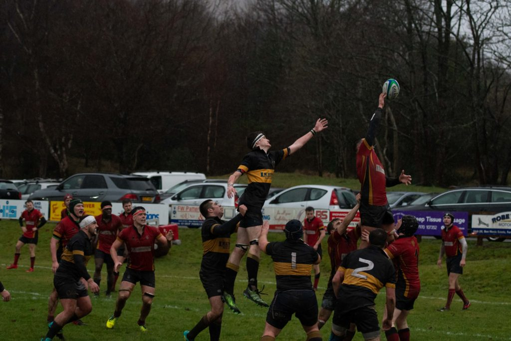 Some action from a lineout. Photograph: Abrightside Photography.  NO F50 LRFC V GUM-3