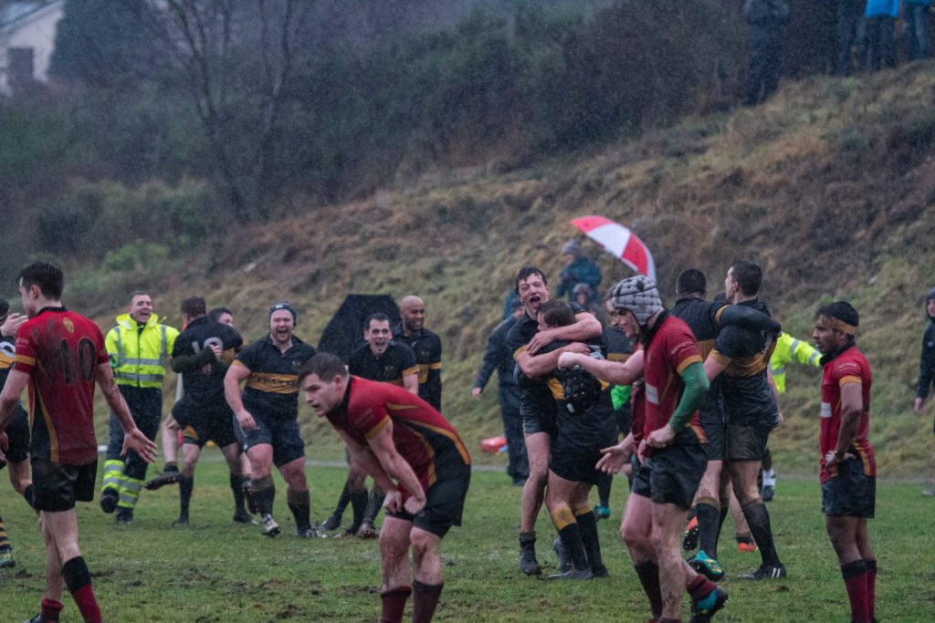 Joy at the final whistle and Lochaber are victors! Photograph: Abrightside Photography.  NO F50 LRFC V GUM_-3