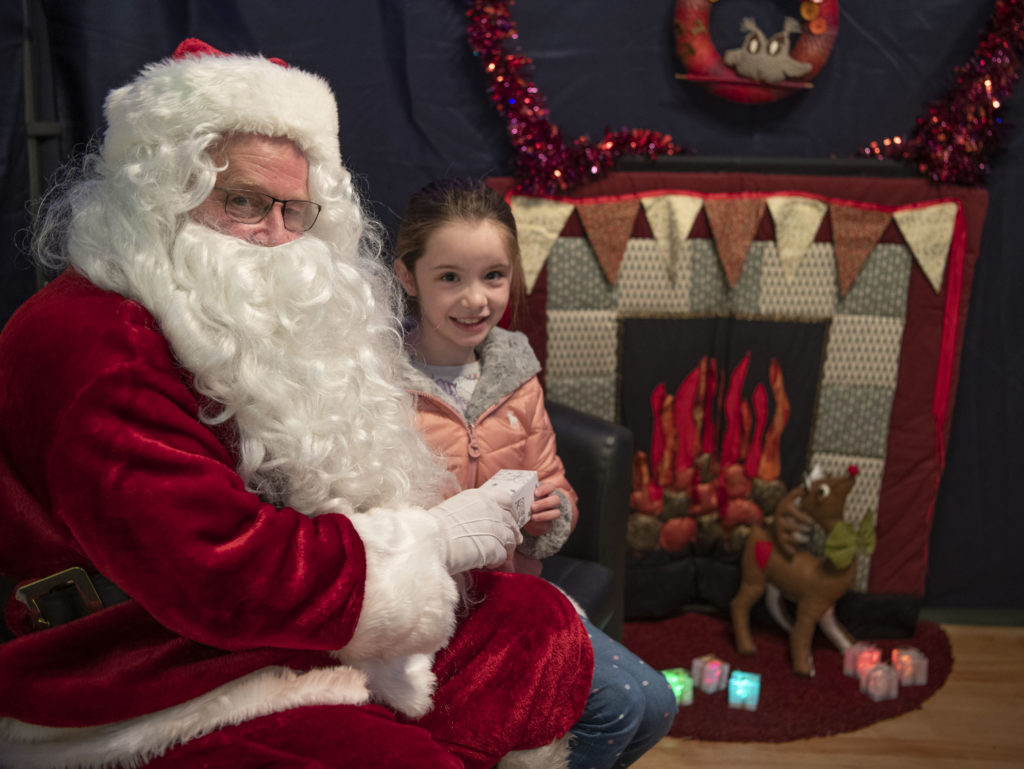 Seven year old Ella Stewart was a visitor to Santa's Grotto at the Chrstmas Craft Fair. Photograph: Iain Ferguson, alba.photos