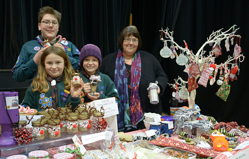 6th Lochaber (The Brase) Scouts had many plastic free hand made items for sale at the Rotary Club Christmas Craft Fair: Photograph: Iain Ferguson, alba.photos