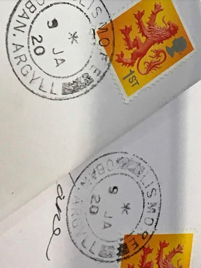 Lismore has its own franking stamp, the island's post office was once voted best rural branch.