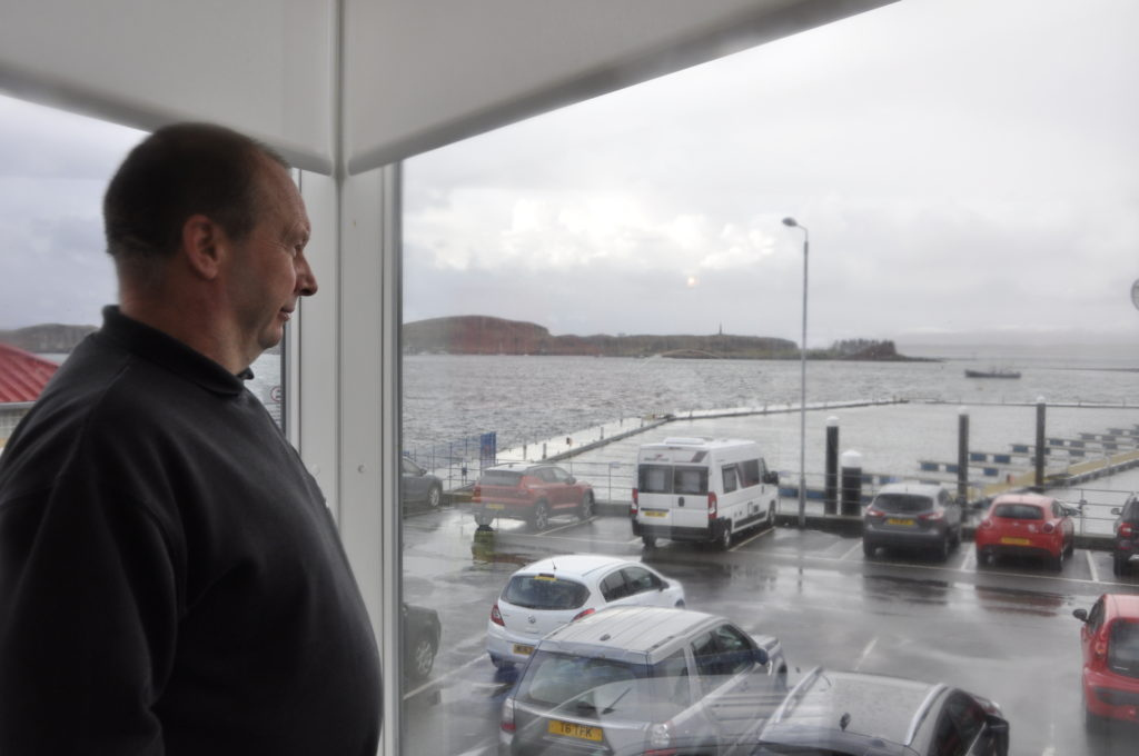 Assistant Harbour Master Richard Dobson keeps a close eye on things in the Bay.