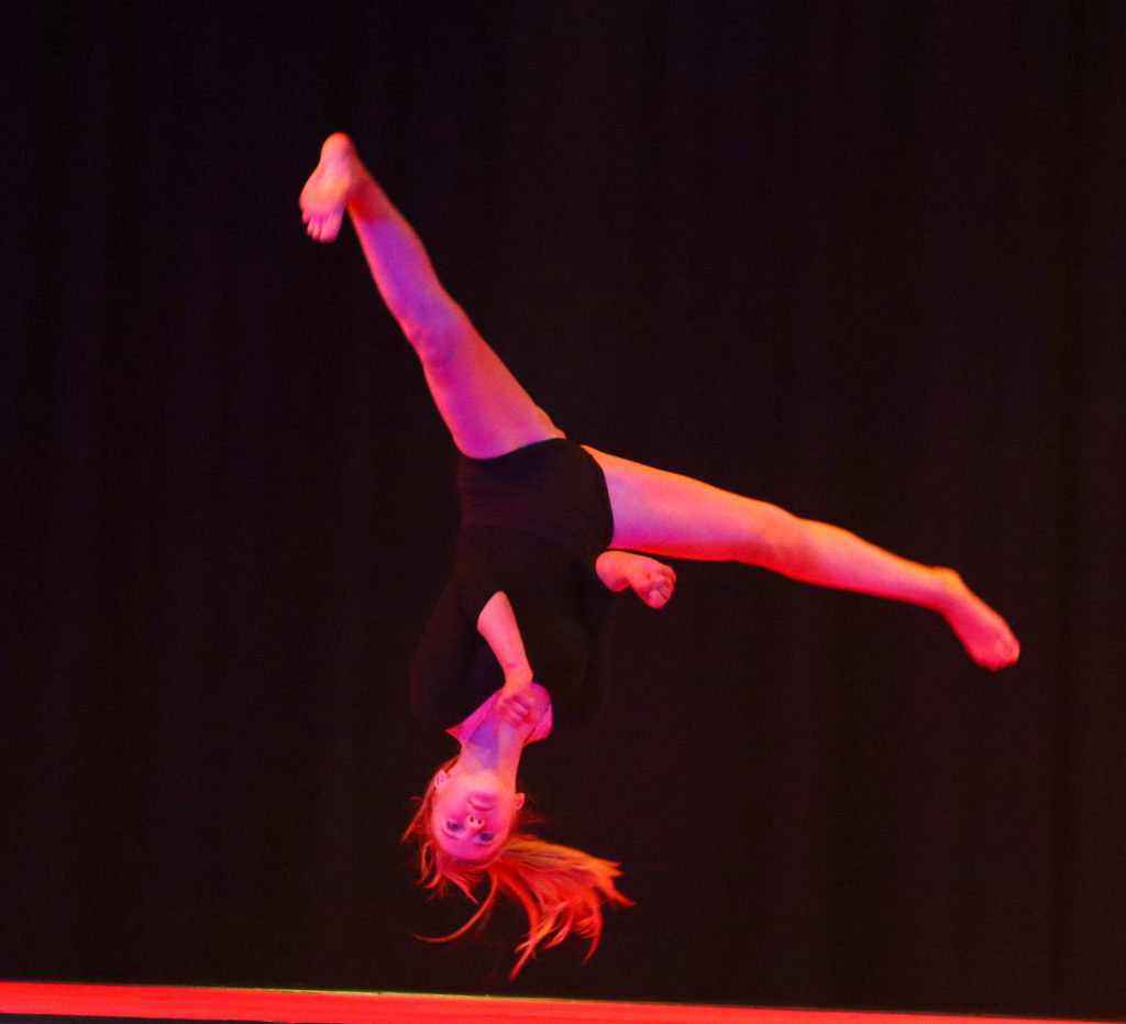 Acrobatics and gymnastics were an integral part of the show. Photograph: Kevin McGlynn.
