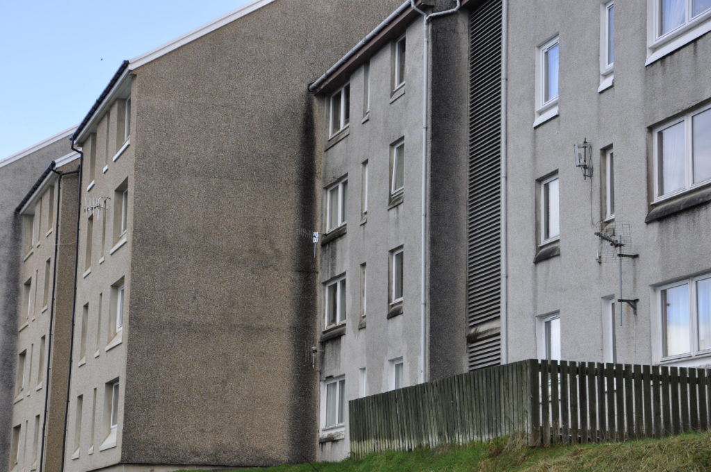 Residents in the Soroba flats have a list of complaints relating to recurring damp problems.