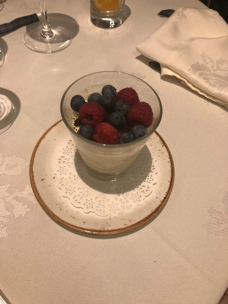Milk Panna Cotta with Berries.