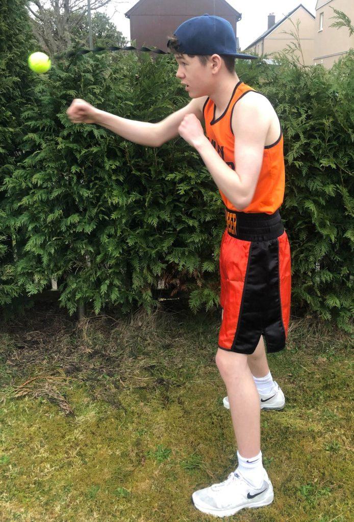 Josh Dieguno of Lochaber Phoenix Boxing Club.