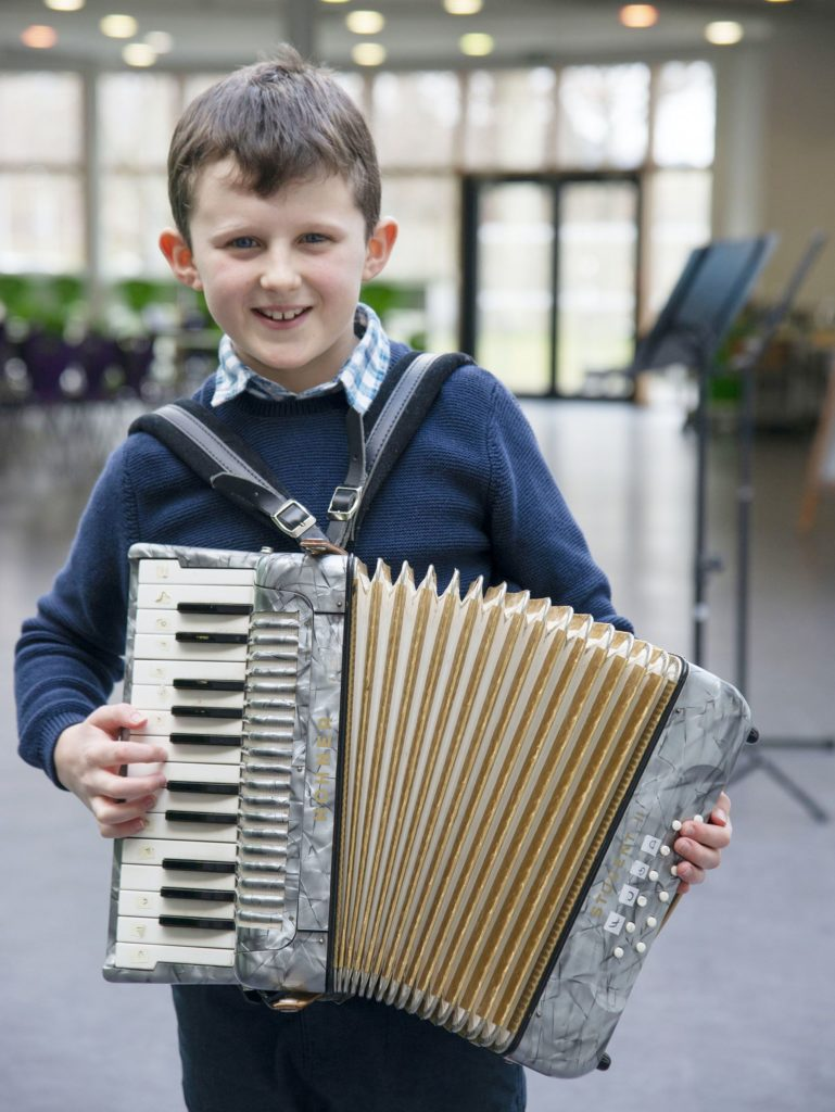 MUSIC FESTIVAL  Ruairidh MacMaster, joint second in the Accordion Solos - Beginners competition.  Photograph: Iain Ferguson, alba.photos