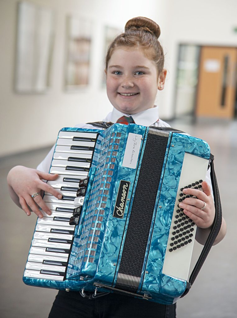MUSIC FESTIVAL  Lily Jane Roberston, winner of the Accordion Solos - Beginners competition.  Photograph: Iain Ferguson, alba.photos