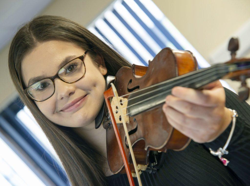 MUSIC FESTIVAL  Sophie Rand, winner of the  Fiddle solo-Intermediate competition.  Photograph: Iain Ferguson, alba.photos