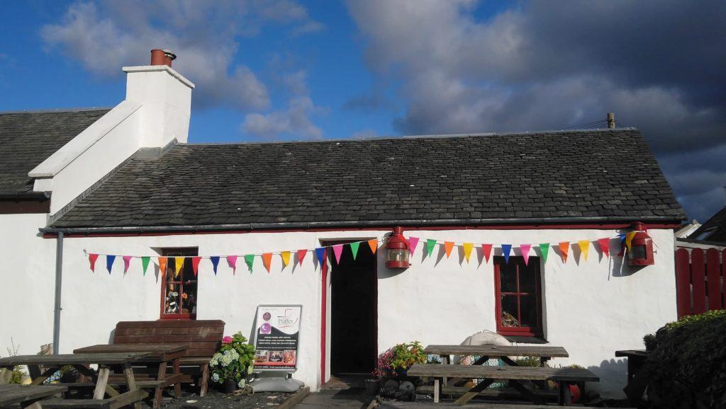 The Puffer pub on Easdale. Photograph: Murdo MacLeod
