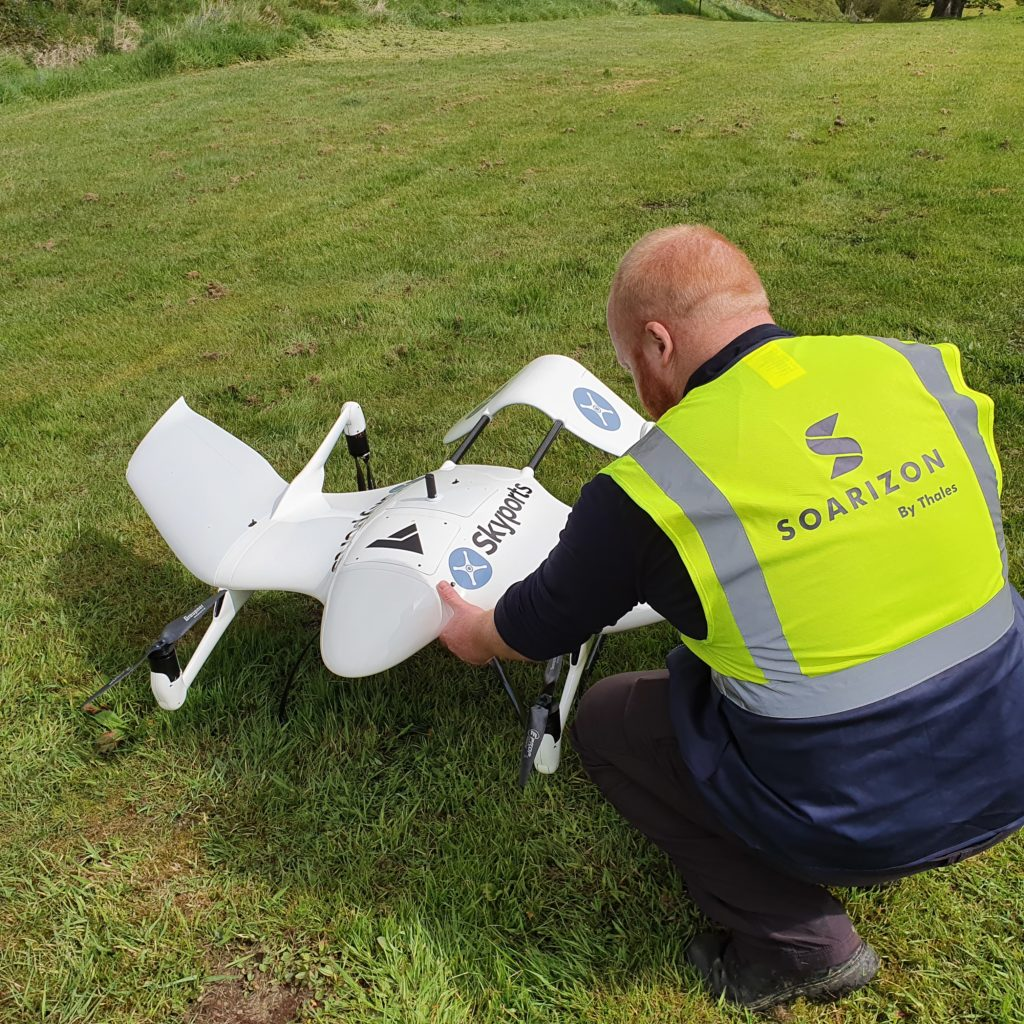 SOARIZON is a drones operation management system used by Thales