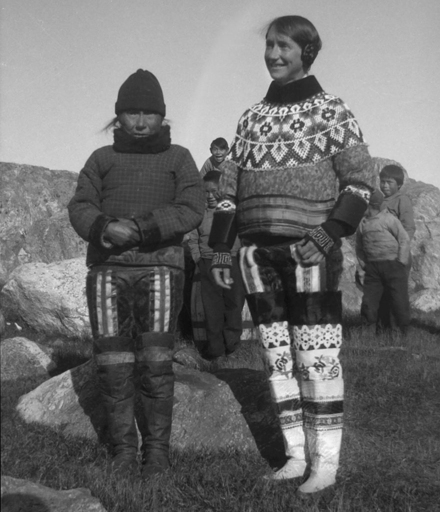 Isobel in traditional Inuit dress. Photograph: RSGS collections