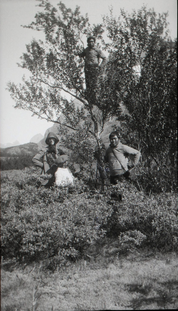 Isobel among the birch trees at Kinguadal. Photograph: RSGS collections