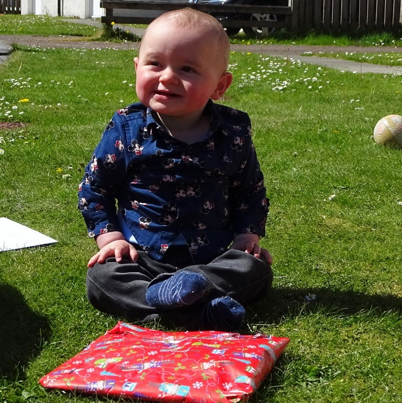 Jaxson John Braidwood speant his first birthday enjoying himself in the family garden on Tuesday, May 5. Lots of love from all the family.