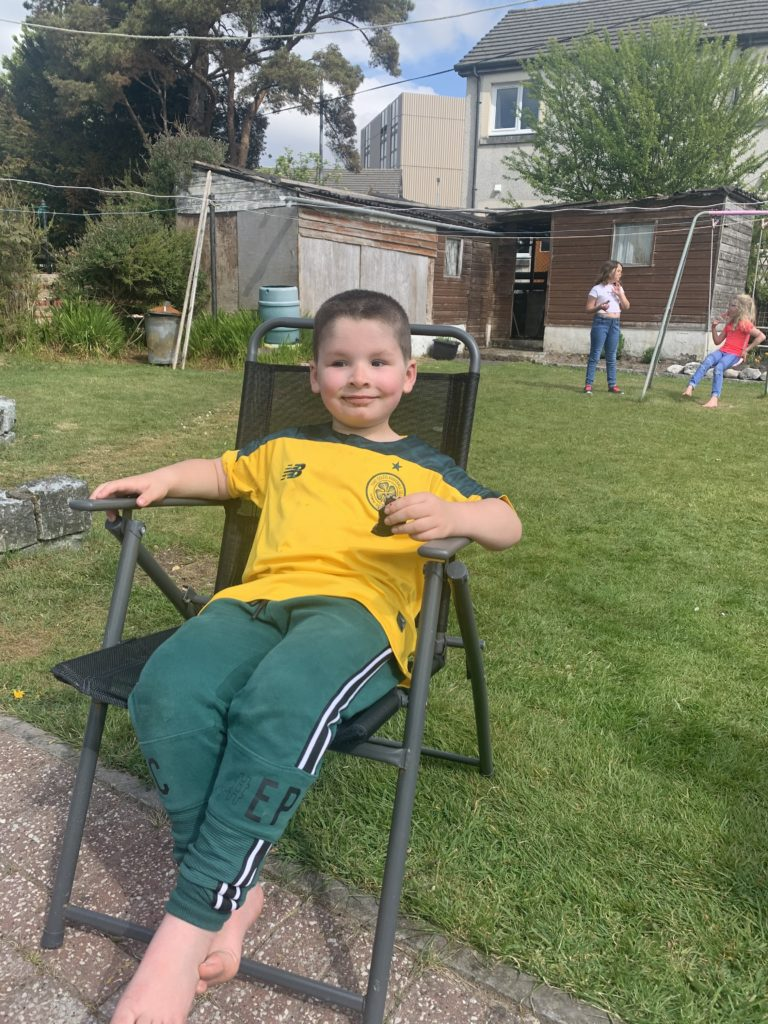 Freddie Peter Dunn celebrated his 5th birthday on May 7 in Oban. Freddie spent the day with his mum Lisa, his dad Josh and his sisters Hollie and Mya. They played in the garden and decorated the house. At night the family had a karaoke disco with his new karaoke machine.