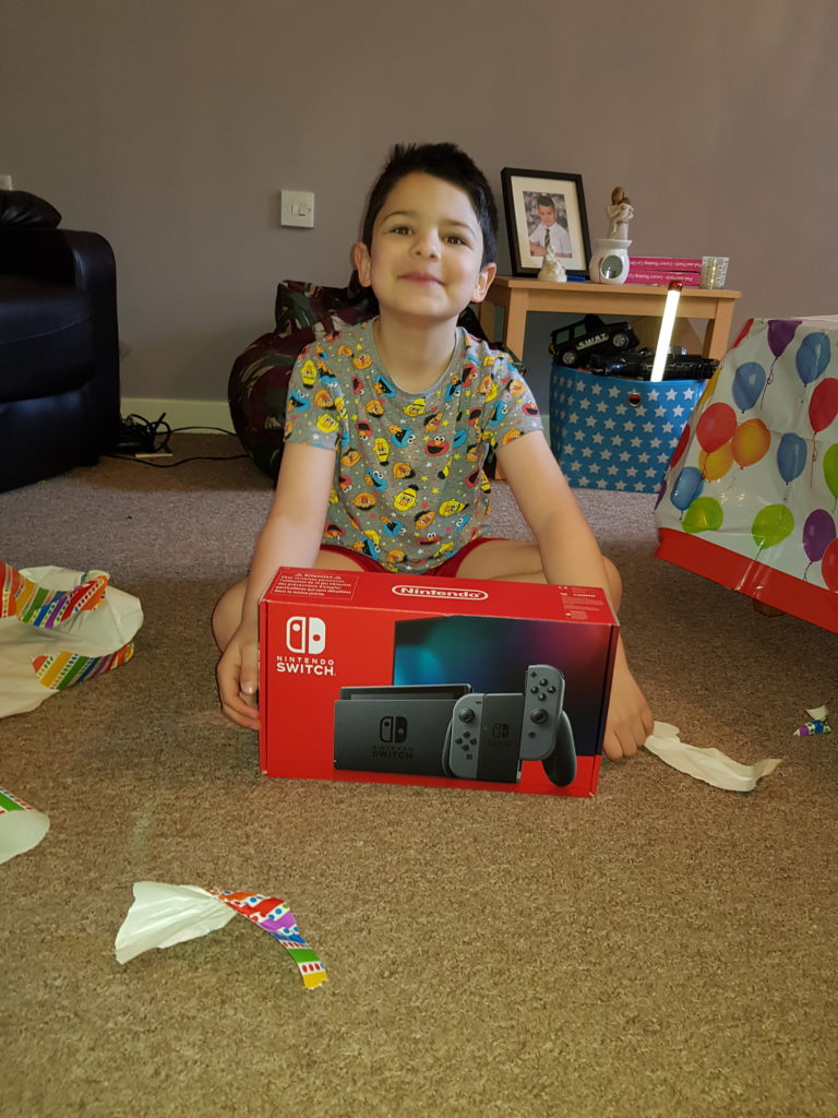 Izyan MacIntyre turned 7 on April 11. His birthday party had to be cancelled due to the lock down but he still celebrated it as best he could by having a tea party for two, fun filled day and playing on the Nintendo Switch he got for his birthday. Izyan ended the day eating Pepperoni pizza and watching his favourite movie Jumanji.