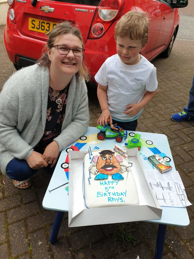 James Muir from Dunollie celebrated his 5th birthday on Saturday, May 9 and had a lovely time at a wee party with his family while mum Julie organised a Facebook chat for Rhys and his nursery friends.