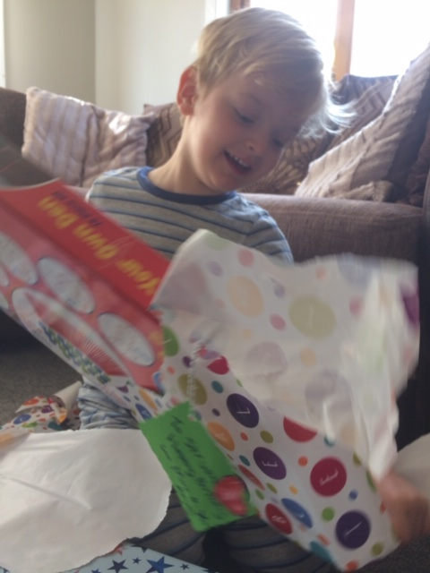Struan Nicholson celebrated his 4th birthday on May 10. Struan's family made it special with lots of balloons, party food and a special family game of pass the parcel.
