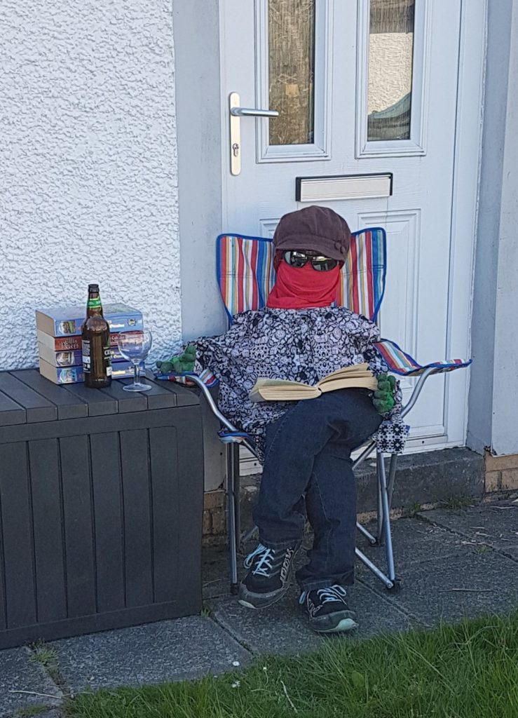 Time for a tipple and a good read as Lockdown Lettie stays at home.