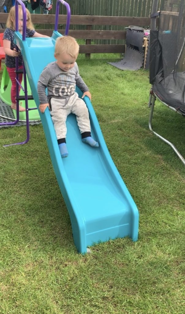 Lewis Smith from Oban celebrated his 2nd Birthday in his garden with his sister Laila. A good time was had but Lewis and Laila miss their Nana Rena very much and can't wait to see her after lockdown.