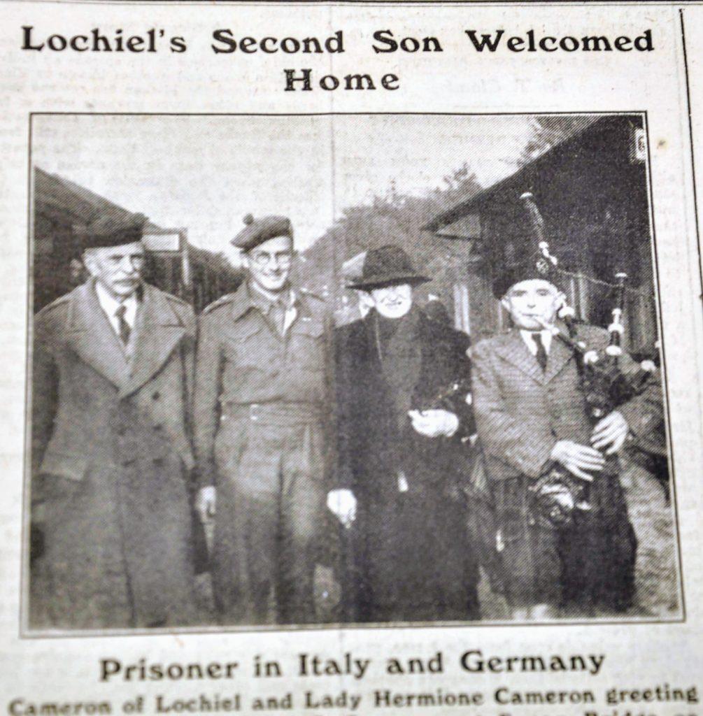 The return of prisoners of war was headline news