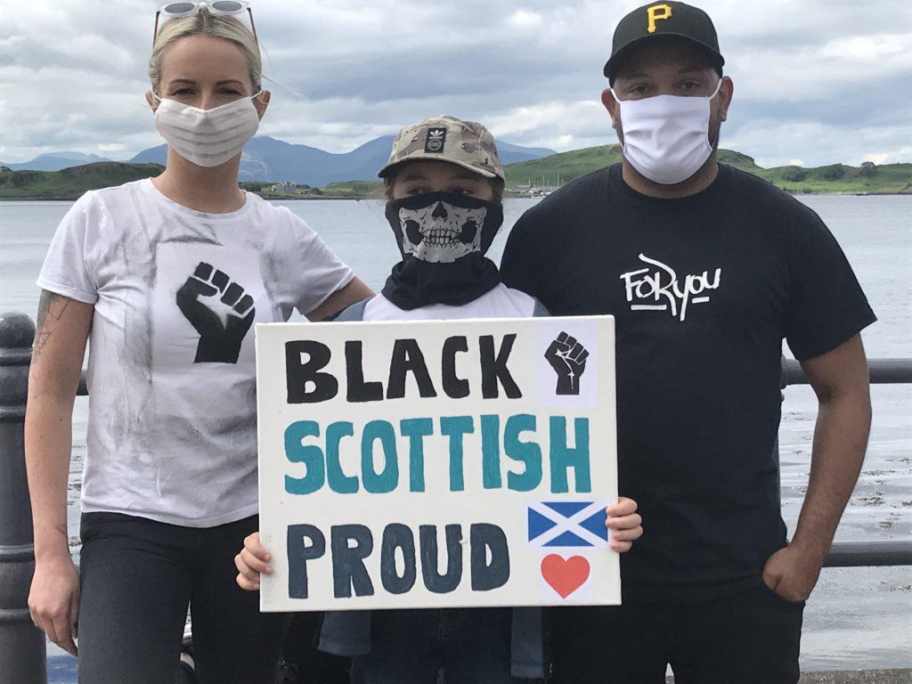 Black, Scottish  and Proud.