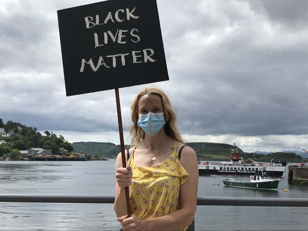 Black Lives Matter read one of the many placards.