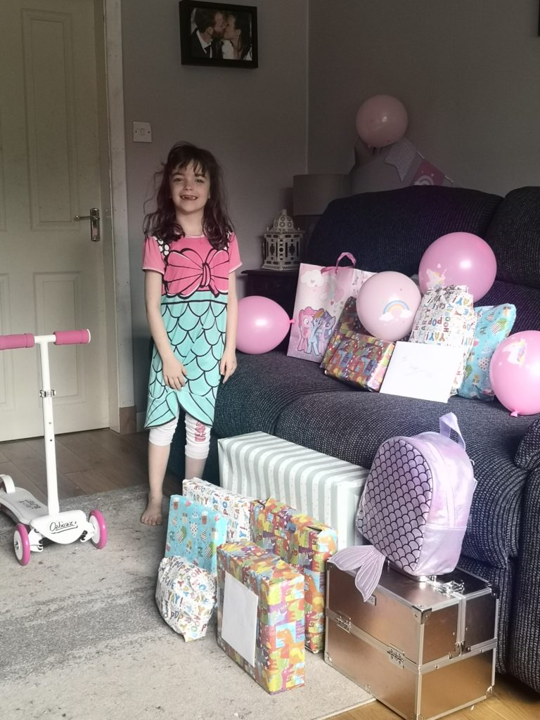 Freja Cavaye, from Inverlochy, celebrated  her seventh birthday on June 6 when she had a party with her brother and sisters, played party games and watched a movie. She had a great birthday party even though her friends could not be there.