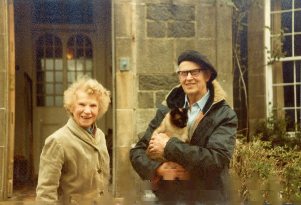 John and Margaret outside Canna House in 1970.