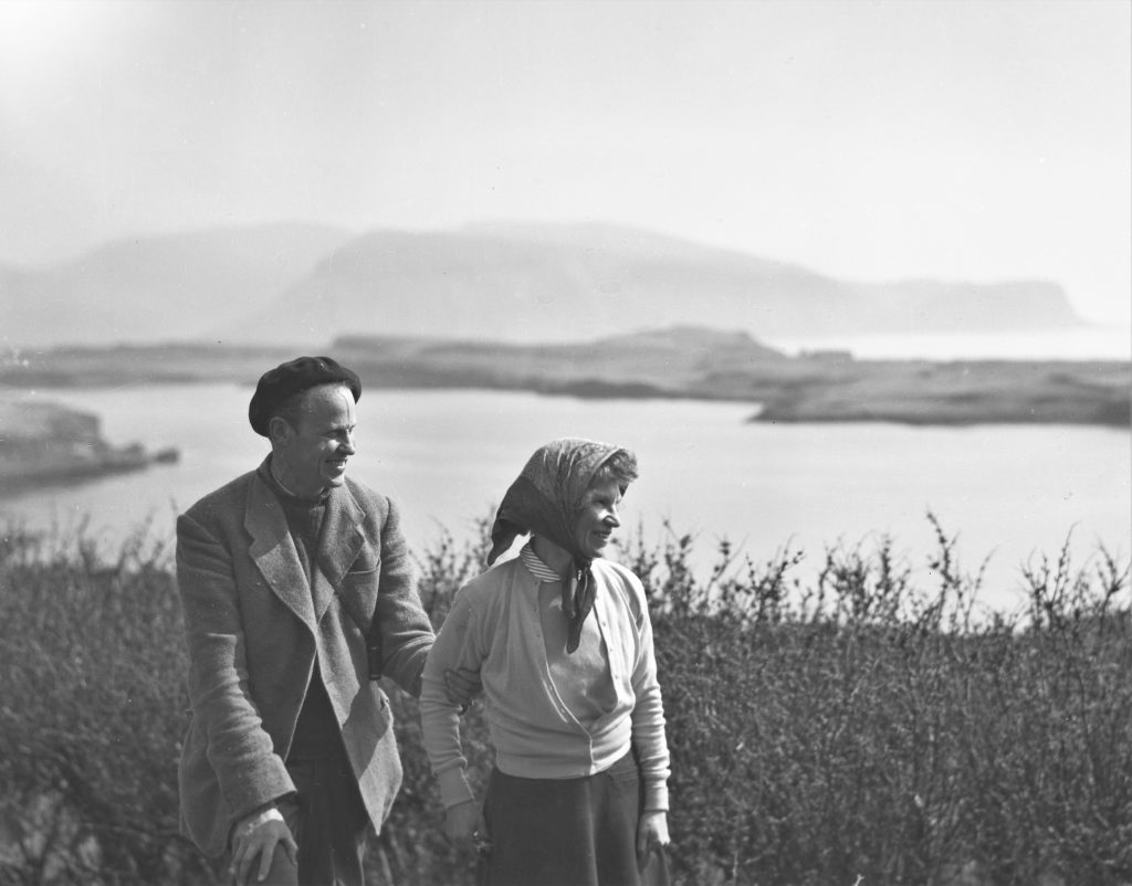 John and Margaret Fay Shaw on Canna.
