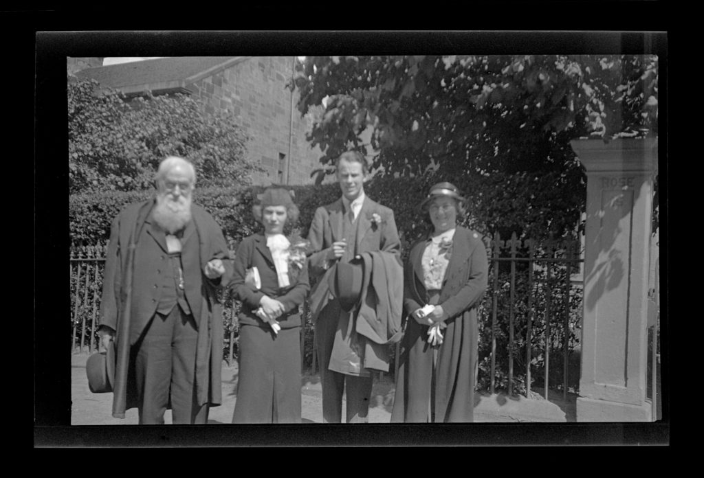 The wedding of John and Margaret Campbell on June 15, 1935.