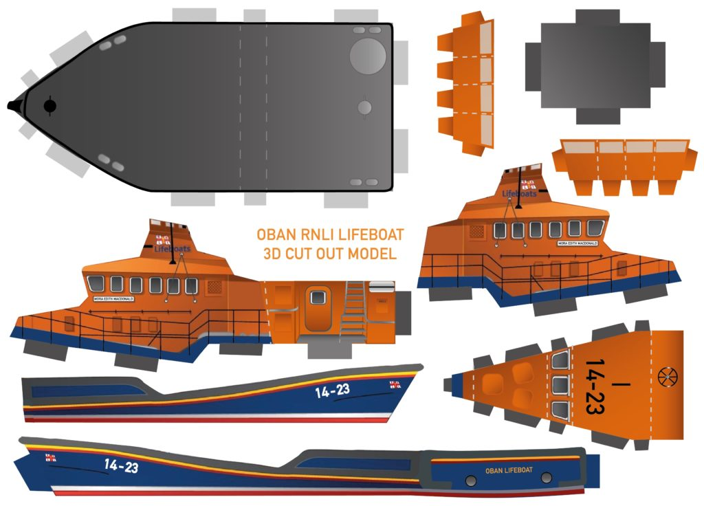 Digital viewers were invited to build their own lifeboat.