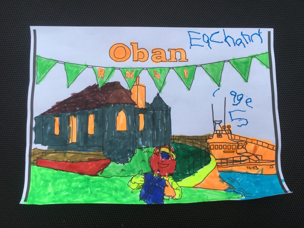 Eachann Brown, age 10, won the colouring in competition.