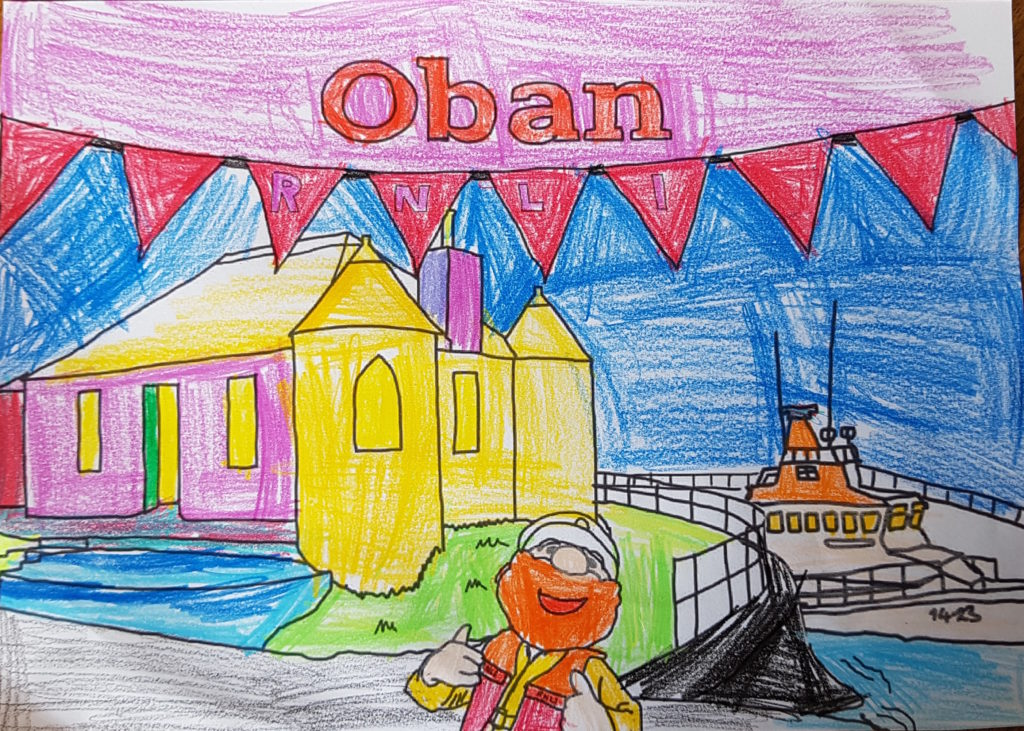 Rowan Donaldson, aged 7, entered the colouring in comp.