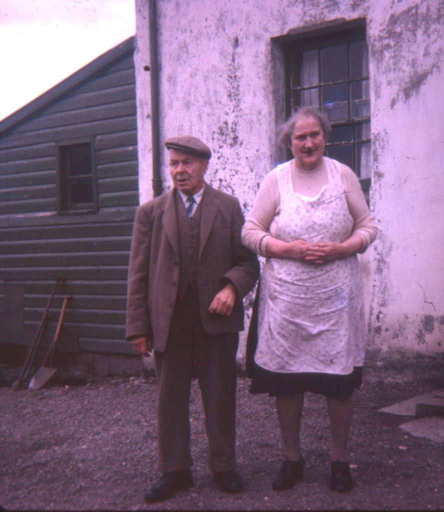 John Graham (1884-1966) a renowned Argyll sheep man who passed on his knowledge to Donnie. Seen here at Liddesdale with Annie Cameron his wife. Photograph supplied by Iain Thornber.