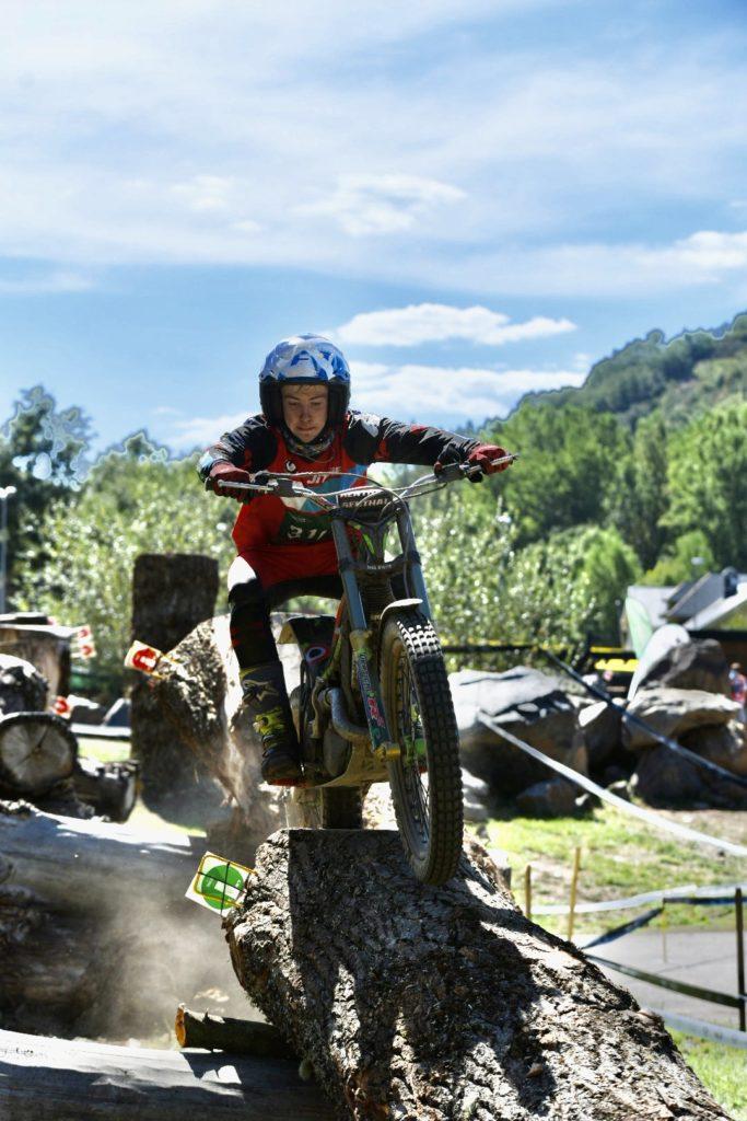 Ben in action in the penultimate round in Andorra. Photographs: Alicia Presa.