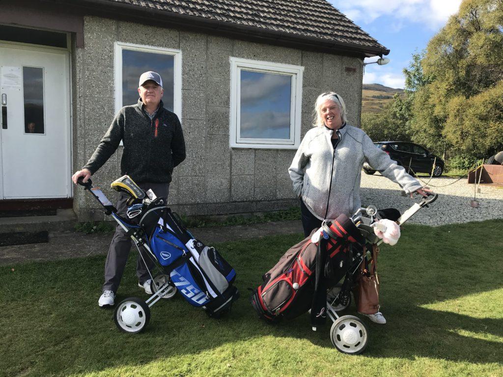 Craignure Golf Club with club captain Steven Wilson.