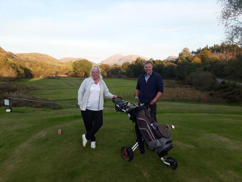 Week Two: Dalmally Golf Club with club captain Graham Mackechnie.