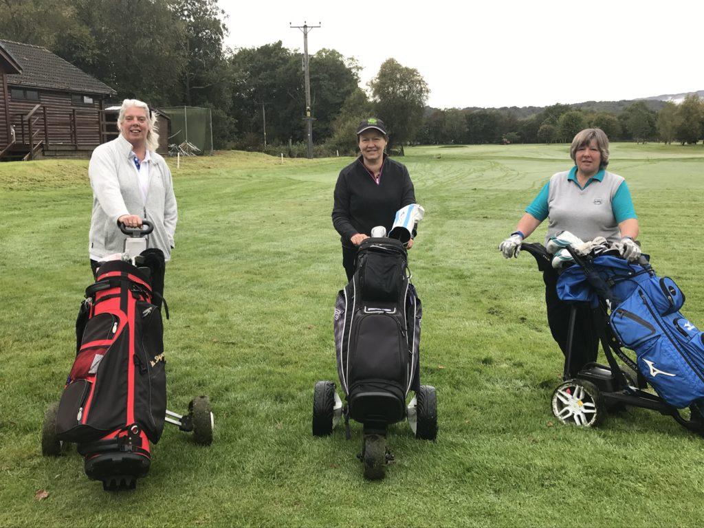 Week Three: Taynuilt Golf Club with club secretary Moira MacVicar and captain Carol McLarty.