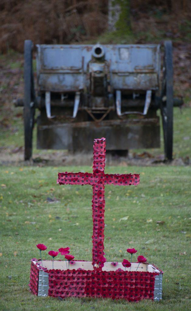 A poignant tribute at Achnacarry.  NO F46 Achnacarry Tribute