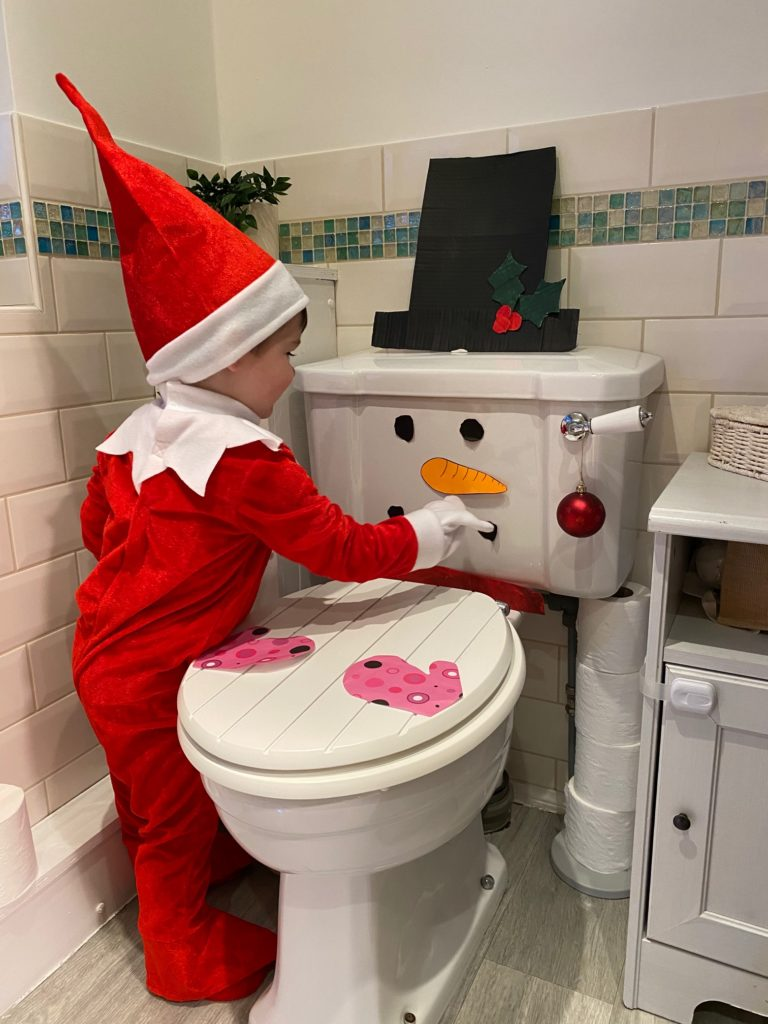 Flushed with pride, Finn turns the toilet into a snowman