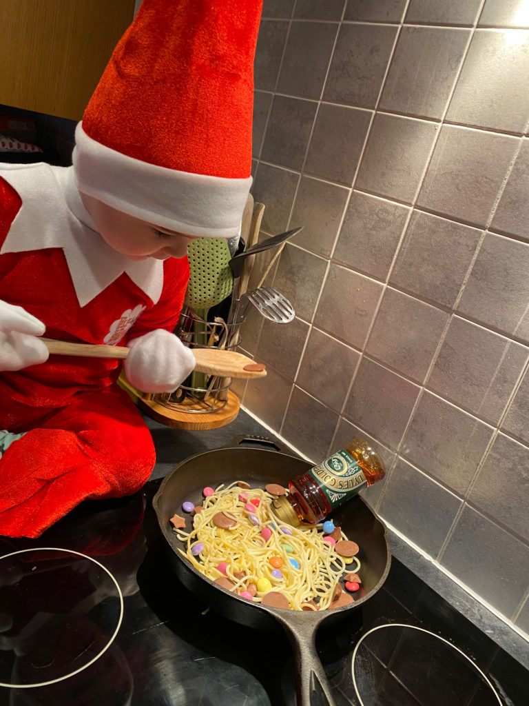 Sweeties and syrup are all in the mix for Finn the elf