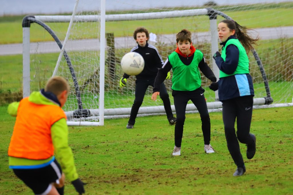 Action from the end of year skills session.