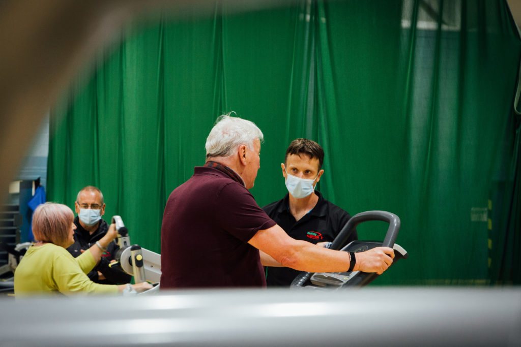 Exercise professional Rob Graham puts Healthy Options client Ben Sunderland through his paces.